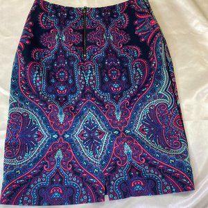 Adrianna Papell paisley pencil skirt